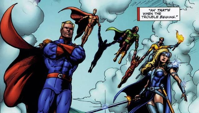 Immagine disegnata del gruppo dei Seven, i protagonisti del fumetto The Boys
