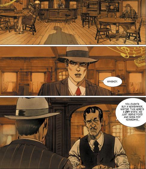 Una pagina della graphic novel di The Blacklist