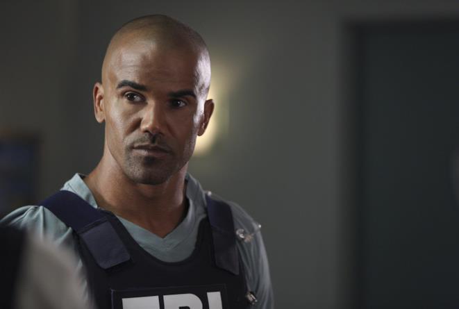 Shemar Moore nei panni di Derek MOrgan sul set di Criminal Minds