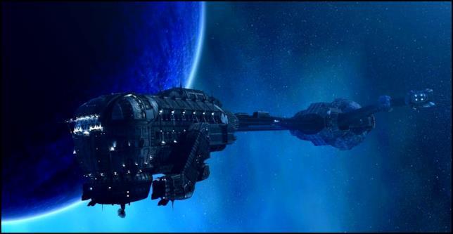 L'astronave Event Horizon nel film Punto di Non Ritorno