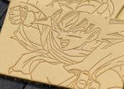Un dettaglio dei jeans di Dragon Ball