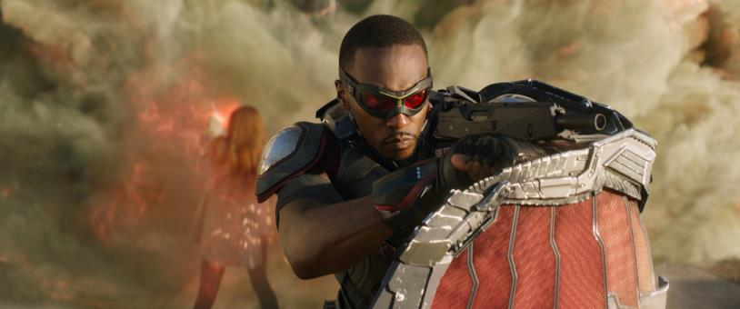 Anthony Mackie come Falcon in Captain America: Civil War