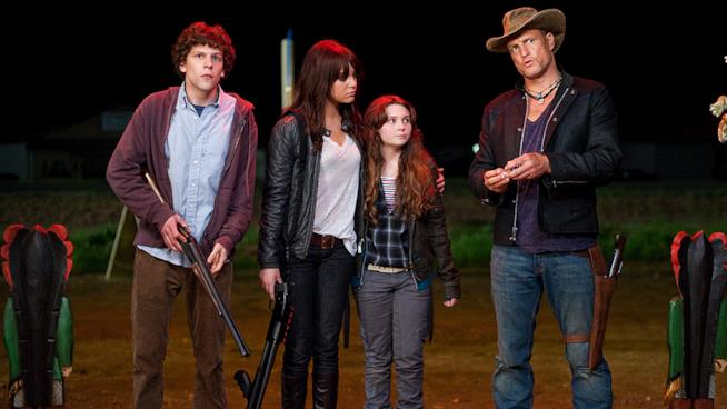 Woody Harrelson, Jesse Eisenberg, Abigail Breslin e Emma Stone