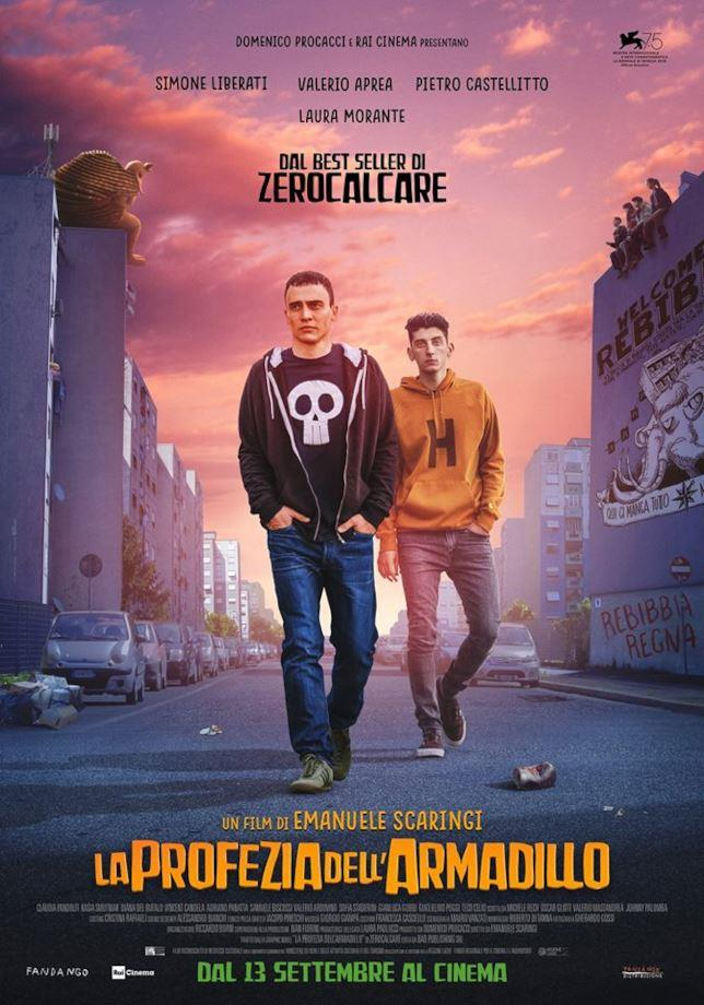 Zero (Simone Liberati) e Secco (Pietro Castellitto) nel poster ufficiale del film