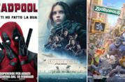 I poster di Deadpool, Rogue One: A Star Wars Story, Zootropolis