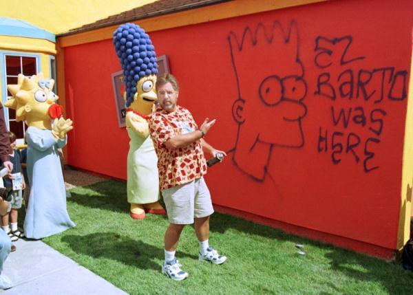 Matt Groening vandalizza la casa dei Simpson