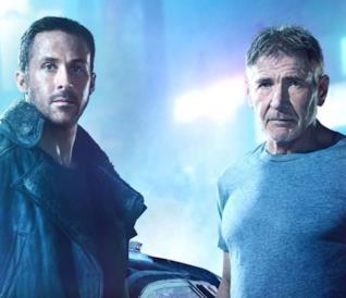 Ryan Gosling e HArrison Ford in Blade Runner 2049