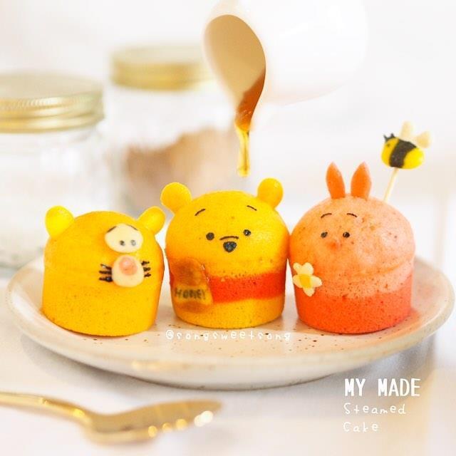 Le tortine con i volti di Winnie the Pooh, Tigro e Pimpi