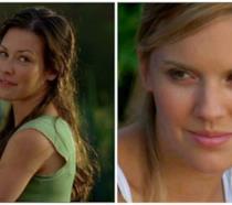 Primi piani di Evangeline Lilly e Maggie Grace in Lost