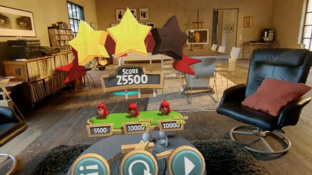 Angry Birds FPS punteggio in realtà aumentata