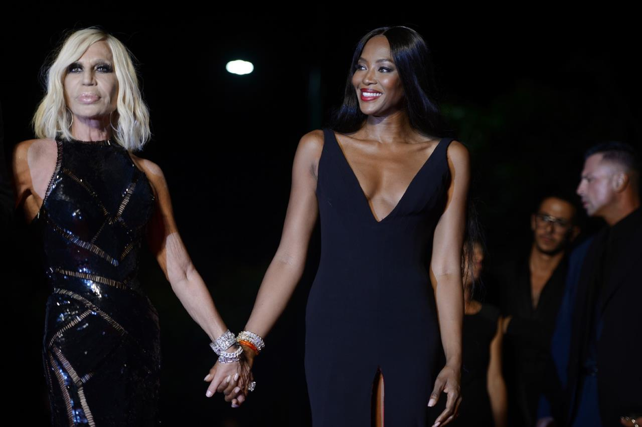 Donatella Versace e Naomi Campbell a Venezia 73