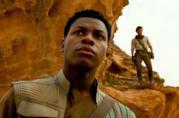 John Boyega in una scena della nuova trilogia di Star Wars