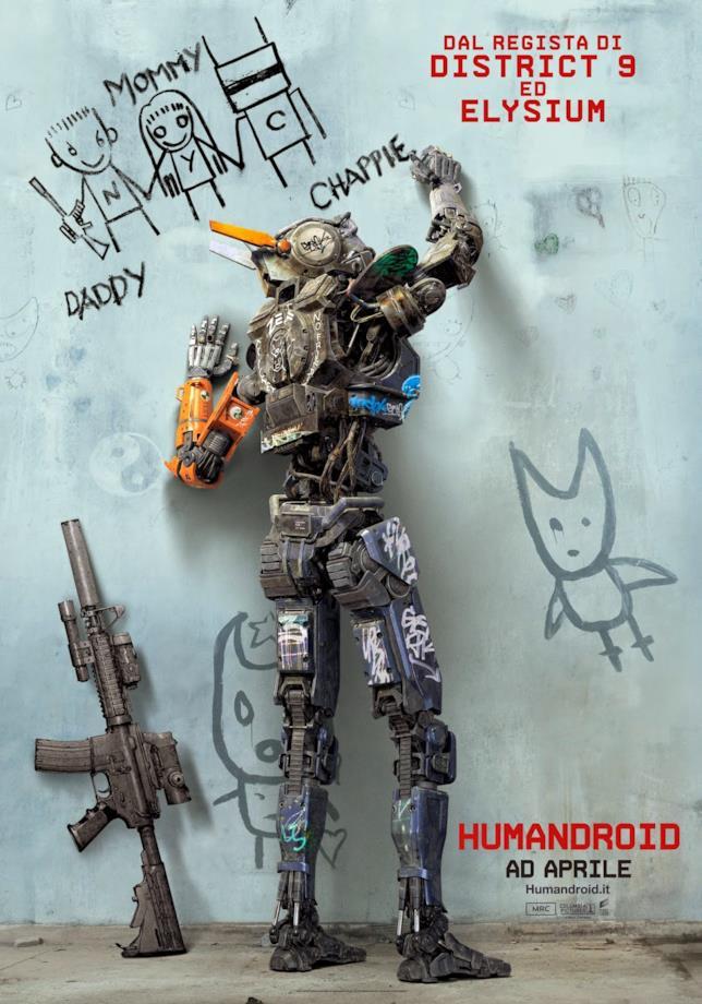 Chappie nella copertina di Humandroid