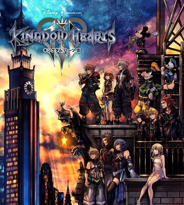 Personaggi di Kingdom Hearts III copertina gioco