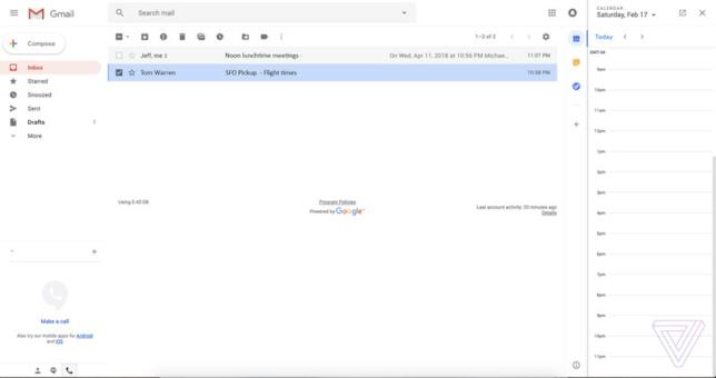Gmail si rinnova e rivoluziona la sidebar con una nuova grafica e funzioni