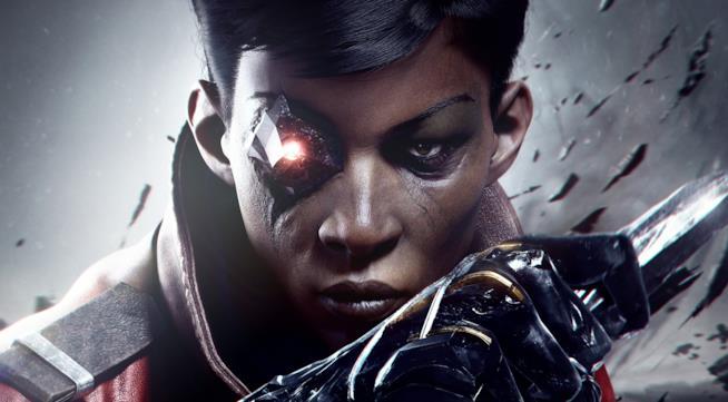 Un primo piano della protagonista di Dishonored: La morte dell'Esterno