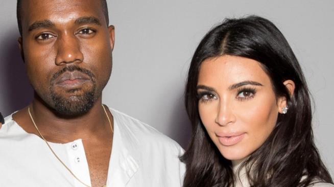 Kim Kardashian con il marito Kanye West