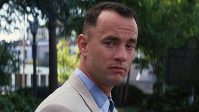 Tom Hanks in una scena di Forrest Gump