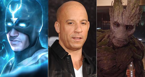 Vin Diesel presta la voce a Groot, e in molti lo vogliono come Freccia Nera