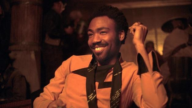 Donald Glover nei panni di Lando Calrissian
