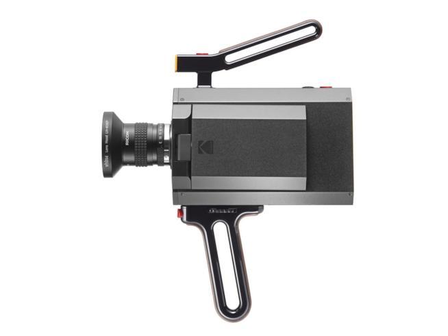 Primo piano della parte frontale della Kodak Super 8