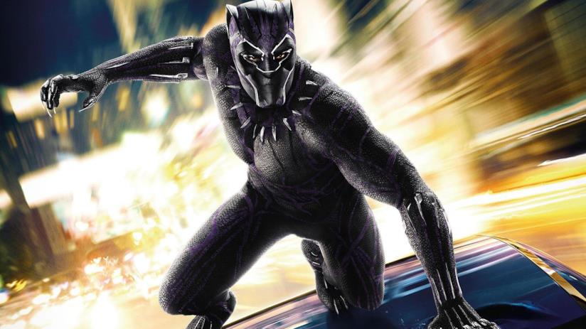 Black Panther in azione in un poster ufficiale Marvel