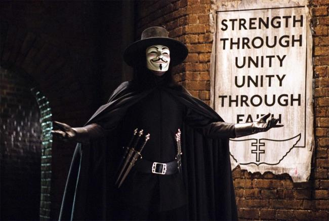 In foto V dal film V per Vendetta