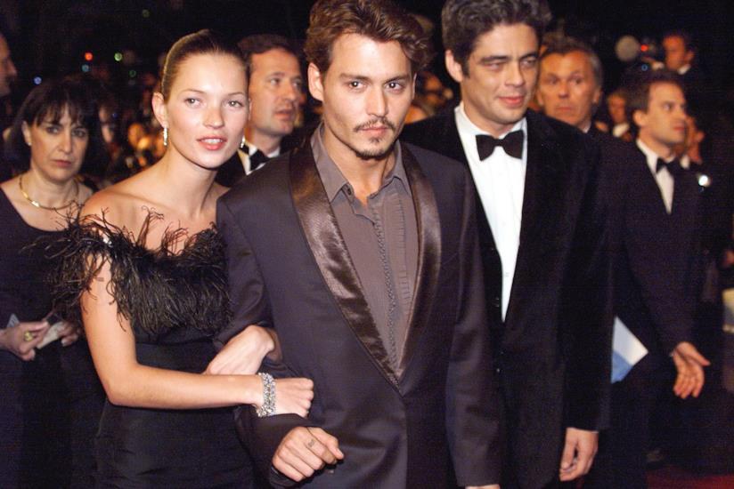 Kate Moss e Johnny Depp a un evento