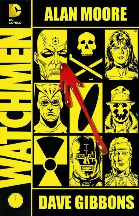 La copertina della nuova edizione deluxe di Watchmen mostra i volti dei supereroi protagonisti della graphic novel