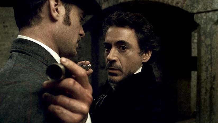 Una scena del primo Sherlock Holmes