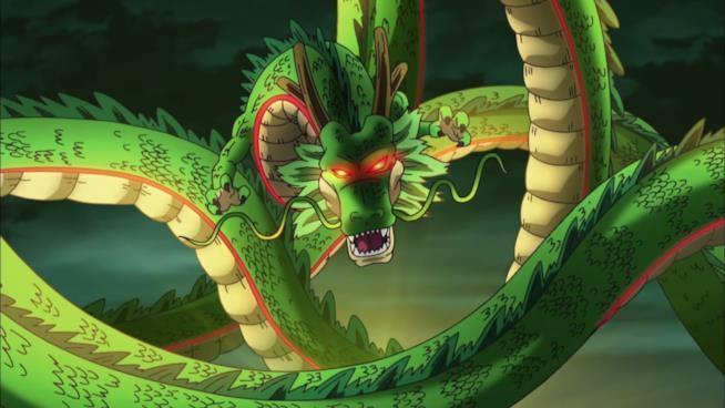 Shenron in una sequenza animata di Dragon Ball Xenoverse