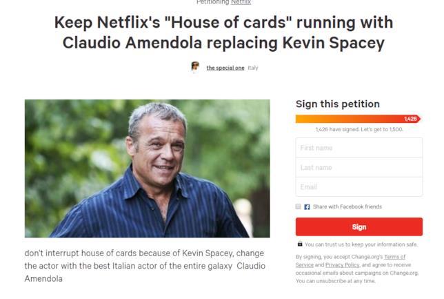 Claudio Amendola sulla petizione per sostituire Kevin Spacey in House of Cards