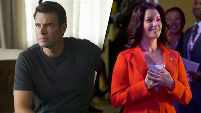 Jake e la candidata alla presidenza Mellie Grant in Scandal