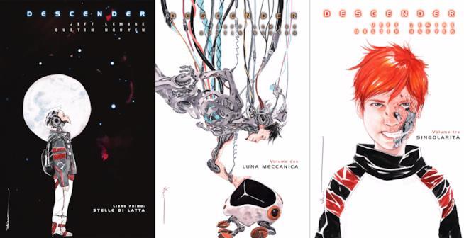Cover dei tre volumi di Descender