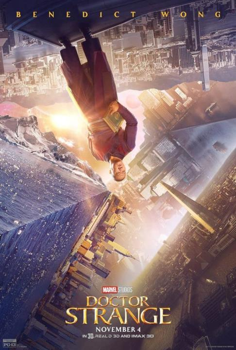 Benedict Wong nel character poster di Doctor Strange.