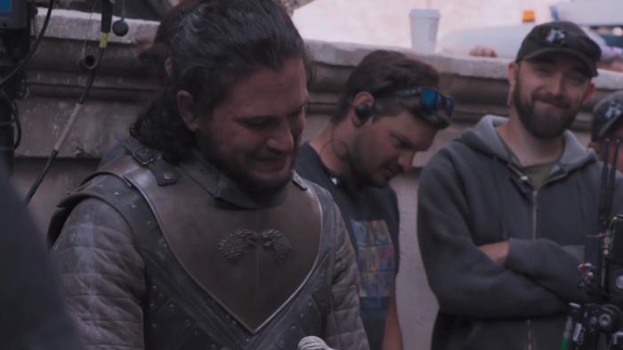 Kit Harington nella sua ultima scena in Game of Thrones 8