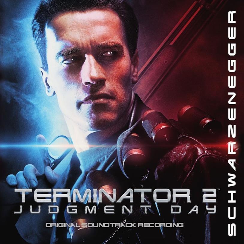 Copertina del CD contenente la colonna sonora di Terminator 2 - Il giorno del giudizio