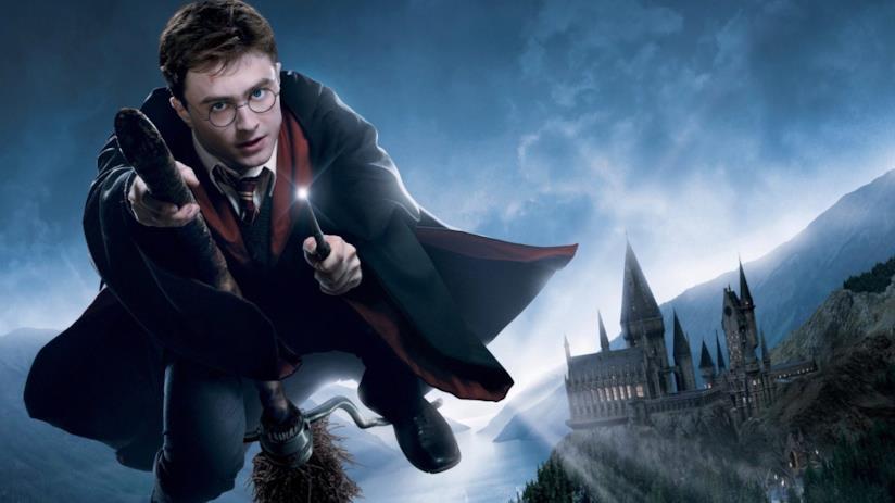 Harry Potter in un poster dei film