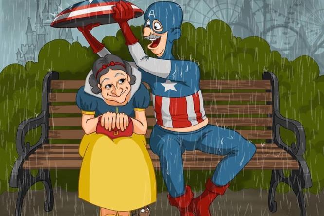Supereroi in pensione: Biancaneve e Capitan America