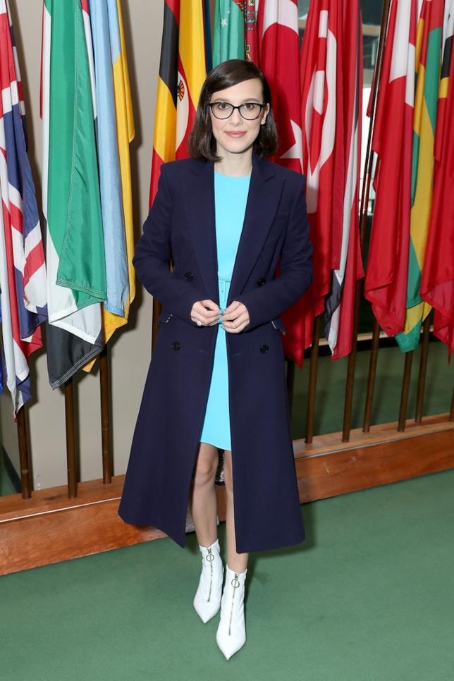 Millie Bobby Brown alla sede delle Nazioni Unite