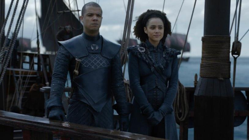 GoT 8x04: Missandei e Verme Grigio sulla flotta Targaryen