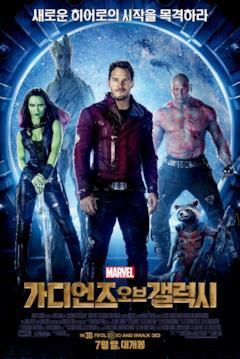 I Guardiani della Galassia nella locandina di annuncio del film