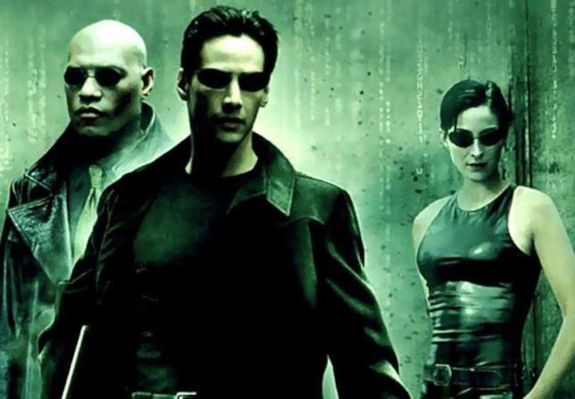 Morpheus, Neo e Trinity, protagonisti di Matrix