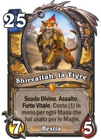 L'immagine della nuova carta Shirvallah, nuova leggendaria del Paladino