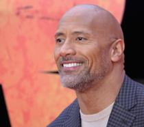 The Rock alla prima del film Rampage