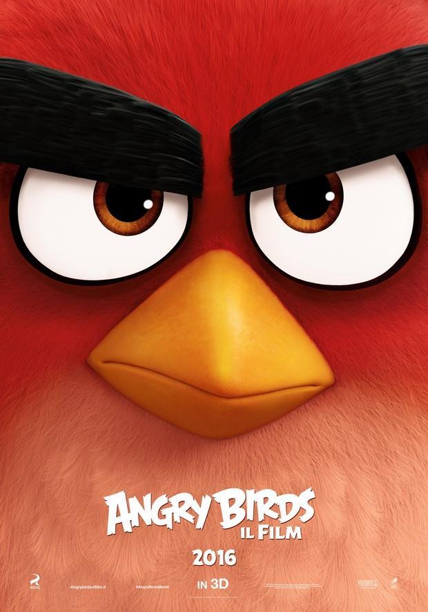 Red sarà il protagonista principale del film di Angry Birds