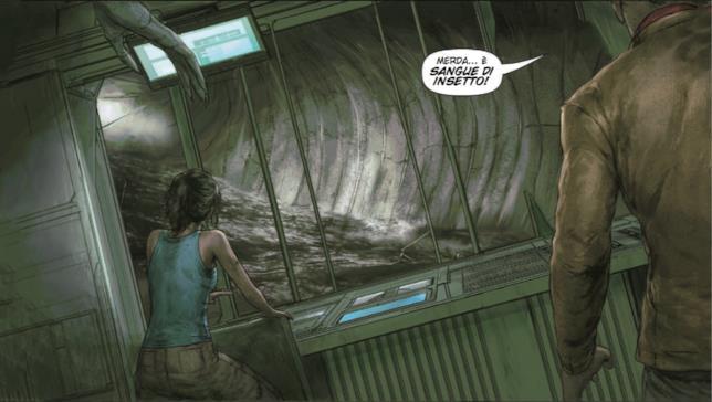 Vignetta di Prometheus Omega con Angela e Galgo