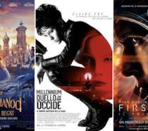 I poster dei film Lo Schiaccianoci e i Quattro Regni, Millennium - Quello che non uccide, First Man