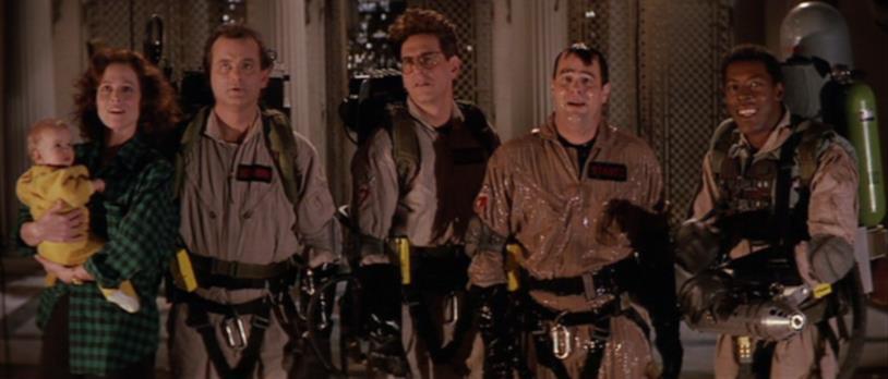 Una delle scene finali di Ghostbusters II, Dana e gli acchiappafantasmi hanno sconfitto Vigo