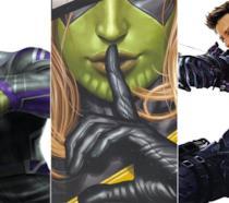 Hulk, Skrull Ms. Marvel e Hawkeye
